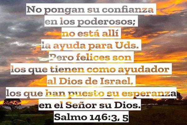 Una REFLEXION del COVID-19 sacada del SALMO 146:3,5