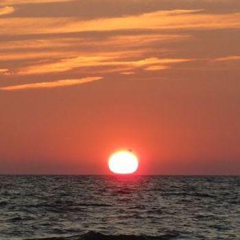 Una Puesta del Sol en el Canada