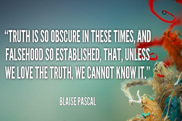 Frases De Vida Verdad Y Falsedad Blaise Pascal