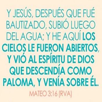 Mateo 3:16-17