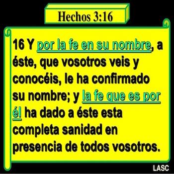Hechos 3:16