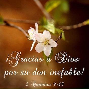 2 Corintios 9:15
