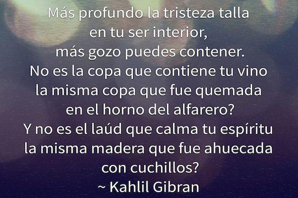 Tristeza y Gozo - Kahlil Gibran