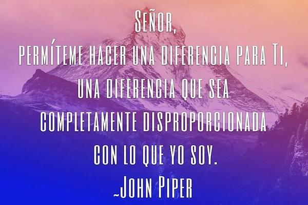 Senor, Permiteme Hacer Una Diferencia - John Piper